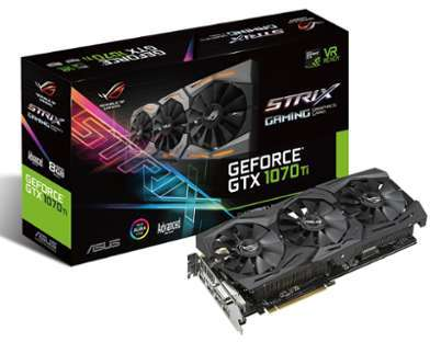 Carte graphique Asus STRIX-GTX1070TI-A8G-GAMING